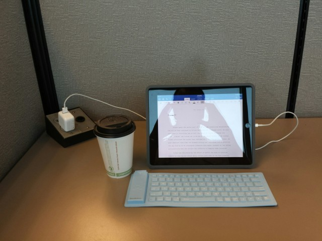 writing in the airport